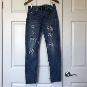 American Eagle Tomgirl Distressed Denim